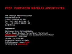 Prof. Christoph Mäckler Architekten